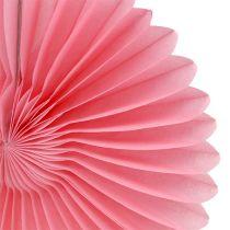 Dekoracja strony plaster miodu papierowy kwiat różowy Ø20cm 3szt