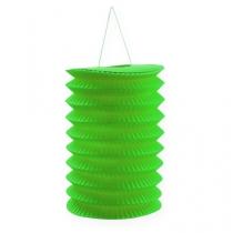 Lampion papierowy zielony 10 cm W 13 cm 8 szt