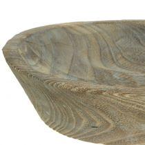Misa dekoracyjna drewno Paulownia owalna 44cm x 19cm H8cm