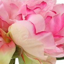 Piwonia z pąkiem różowa L30cm 2szt.
