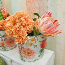 Wiaderko do roślin owalne vintage metalowa dekoracja wiosenna sadzarka 27,5cm