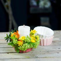 Sadzarka forma do pieczenia, forma do ciasta do sadzenia, doniczka ceramiczna H5cm Ø12,5cm 3szt.