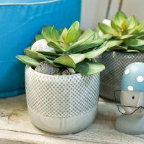 Doniczka ceramiczna, doniczka wzór wiklinowy, doniczka ceramiczna Ø13cm 3szt.