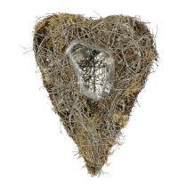 Serce roślinne z winorośli i porostów natura 25cm x 19cm