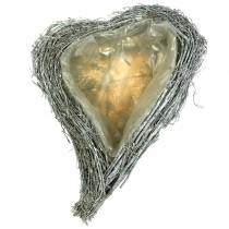 Plant Heart Twigs White Washed 40cm x 30cm