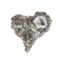Szyszki roślinne serce 20x20cm białe 3szt