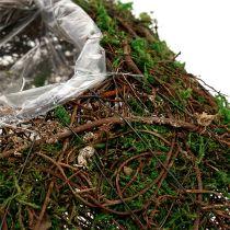 Poduszka roślinna winorośl, mech 22 cm x 22 cm wys. 7,5 cm