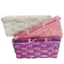Spank Basket Square Purple/White/Pink 8szt.