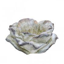 Kwiat róży do posadzenia, florystyka pogrzebowa, róża kamienna, dekoracja betonu Szary, Morelowy, Fioletowy Ø11cm L22cm H9cm