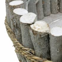 Miska do sadzarki wykonana z gałęzi Ø33cm W13cm