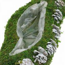 Planter Mech i Szyszki Wave Green, White Washed 41×15cm