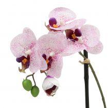 Sztuczny Phalaenopsis fioletowo-biały w misie H38cm