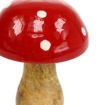 Muchomor drewniany czerwony 15,5cm