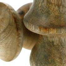 Grzybek mango wood natura drewniany grzybek jesienna dekoracja Ø5cm H7,5cm 6szt