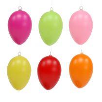 Plastikowe jajko 6 cm różne kolory 24st