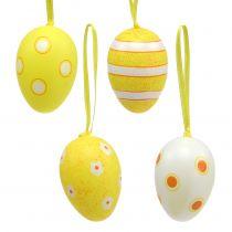 Plastikowa zawieszka na jajka żółta 6cm 12szt