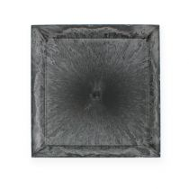 Talerz plastikowy kwadratowy antracyt 31cm x 31cm