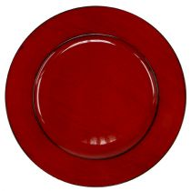 Talerz plastikowy Ø33cm czerwono-czarny
