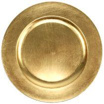Talerz plastikowy złoty Ø17cm 10szt.
