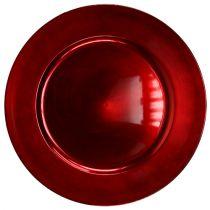 Talerz plastikowy czerwony Ø17cm 10 szt.