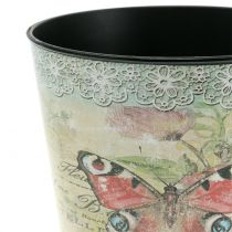 Doniczka dekoracyjna motyl vintage Ø10,5cm