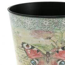 Doniczka dekoracyjna motyl vintage Ø17cm