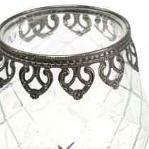 Lampion Szklany Puchar Antyczny Ø13cm H18,5cm