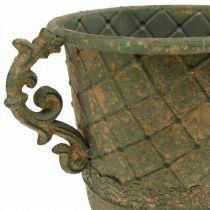 Puchar do sadzenia, puchar z uchwytami, naczynie metalowe antyczny wygląd Ø15,5cm H23,5cm