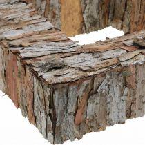 Deco Tree Bark Square Open Pine Bark Autumn Decoration 30×30cm