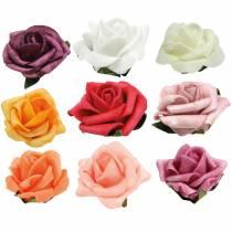 Róża piankowa Ø3,5cm różne kolory 48szt.