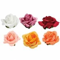 Róża piankowa Ø4,5cm różne kolory 36szt.