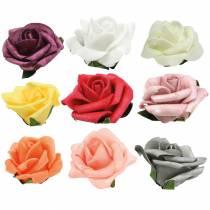 Róża piankowa Ø6cm różne kolory 27szt.