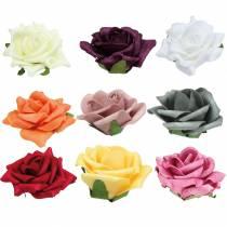 Róża piankowa Ø7,5cm różne kolory 18szt.