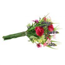 Bukiet Ranunculus z Hiacyntami Różowy 25cm