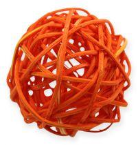 Kule rattanowe 4,5cm Pomarańczowa Morela 30szt