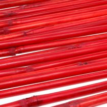 Uchwyty rattanowe czerwone 100cm 20szt.
