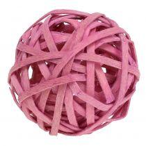 Piłka rattanowa różowa Ø4cm 12szt.
