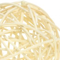 Kula rattanowa bielona Ø7,5cm 15szt.