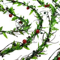 Wianek z winorośli z jagodami 3m
