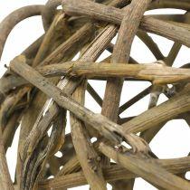 Deco Ball Vine Wood Natural Dark Ø15cm