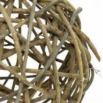 Deco Ball Vine Wood Natural Dark Ø20cm