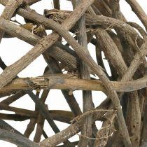 Deco Ball Vine Wood Natural Dark Ø25cm