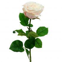Róża sztuczna kremowa 69cm