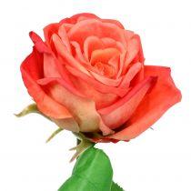 Róża sztuczny kwiat łosoś 67,5cm