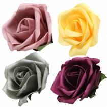 Róża piankowa Ø15cm różne kolory 4szt.