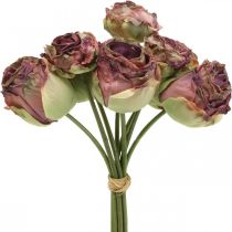Róże Antyczny Róż, Kwiaty Jedwabne, Kwiaty Sztuczne L23cm 8szt.