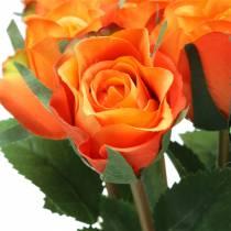 Róża pomarańczowa 42cm 12szt