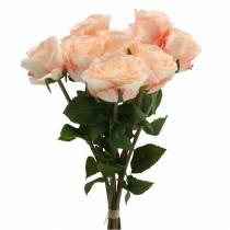 Bukiet róż sztucznych Morela 8szt