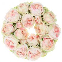 Różaniec Kremowy/Różowy Ø30cm