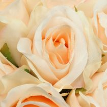 Bukiet róż brzoskwinia Ø22cm